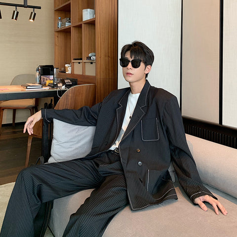 OH Essential Pinstripe Lined Blazer & Pants - OH 2X Asia's Trending Streetwear OH2X