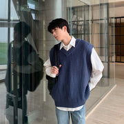 OH Essential Waffle Knit Sweater Vest - OH 2X Asia's Trending Streetwear OH2X