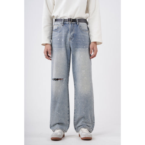 OH Knee Slit Light Wash Jeans - OH 2X Asia's Trending Streetwear OH2X