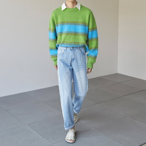 OH Nature Tone Stripe Sweater - OH 2X Asia's Trending Streetwear OH2X