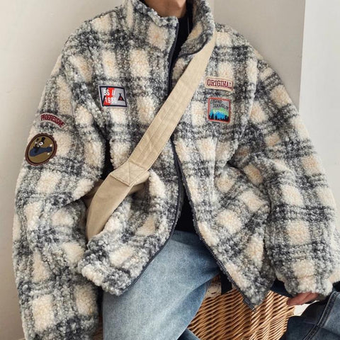 OH Plaid Sherpa Jacket
