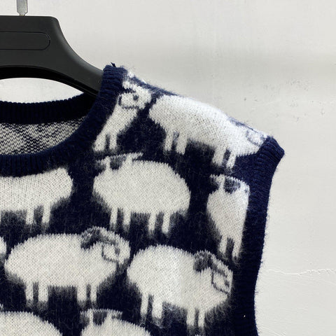 OH Sheep Sweater Vest - OH 2X