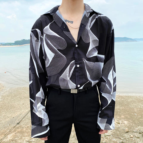 OH Abstract Waves Shirt - OH 2X