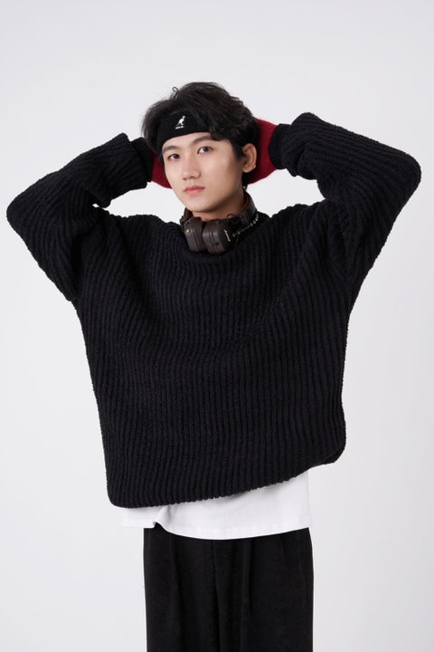 OH Ribbed High Neck Sweater - OH 2X Asia's Trending Streetwear OH2X