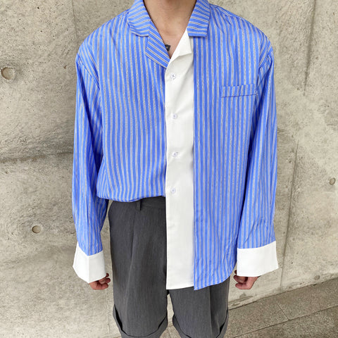 OH White Layered Bowling Shirt - OH 2X