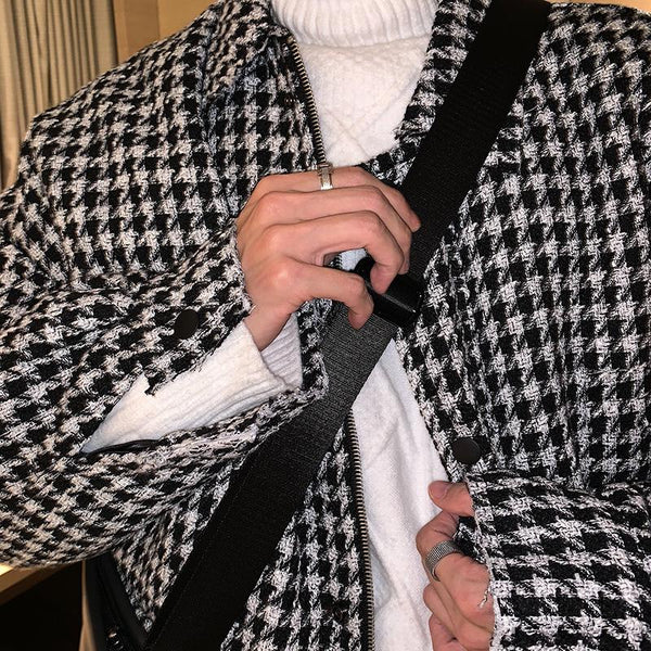 OH Essential Houndstooth Flannel Jacket