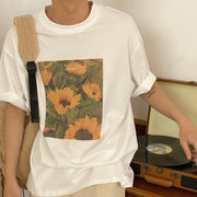 OH Flower Blossom Short Sleeve Tee - OH Garments Asian Trending Streetwear