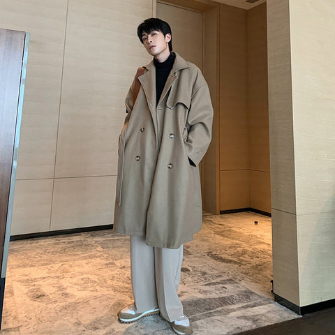 OH Shoulder Padded Double Breasted Overcoat - OH 2X Asia's Trending Streetwear OH2X