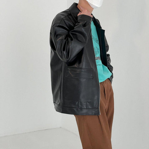 OH Essential Faux Leather Jacket - OH 2X Asia's Trending Streetwear OH2X