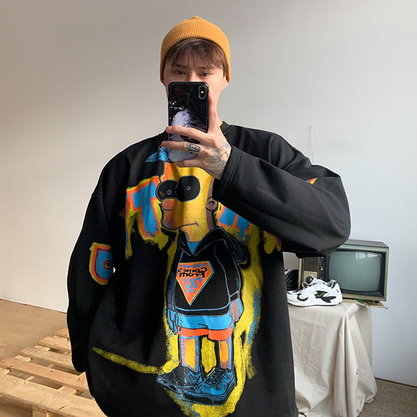 OH Bart Simpson Abstract Crewneck