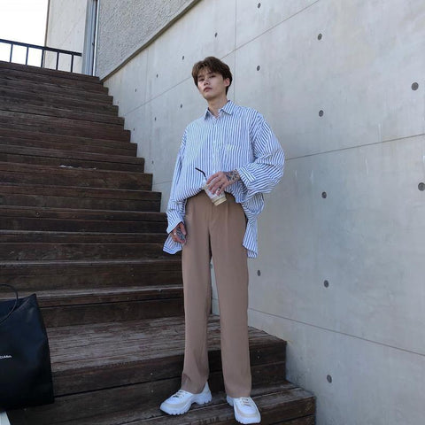 OH Essential Straight Trousers (3 Colors) - OH Garments Asian Trending Streetwear