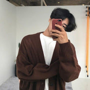 OH Essential Long Cardigan - OH Garments Asian Trending Streetwear