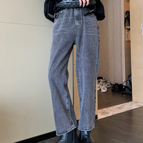 OH Essential Faded Cropped Jeans - OH 2X Asia's Trending Streetwear OH2X