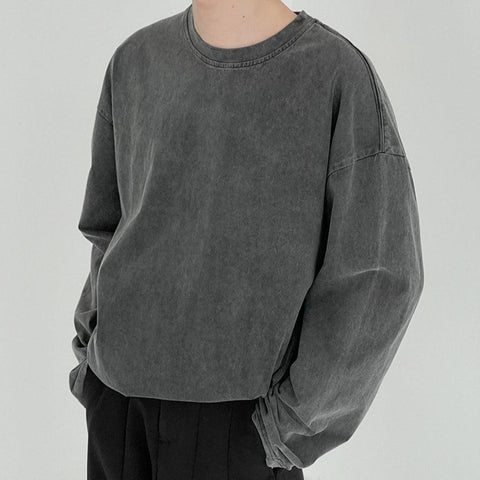 OH Essential Washed Longsleeve Tee - OH Garments Asian Trending Streetwear