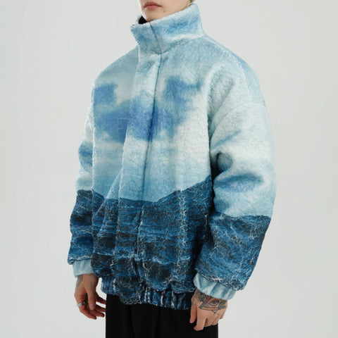 OH Stormy Sea Fleece Jacket - OH 2X Asia's Trending Streetwear OH2X