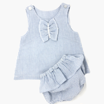 Baby Girls Blue Striped bloomers