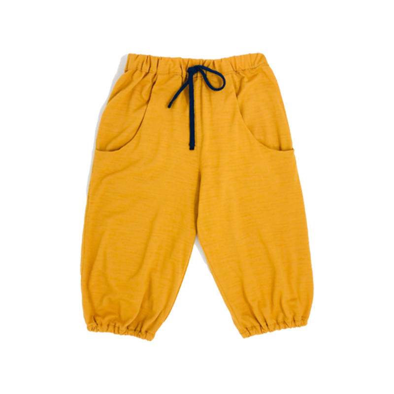 Baby Boys Mustard Pants With Rounded Pockets