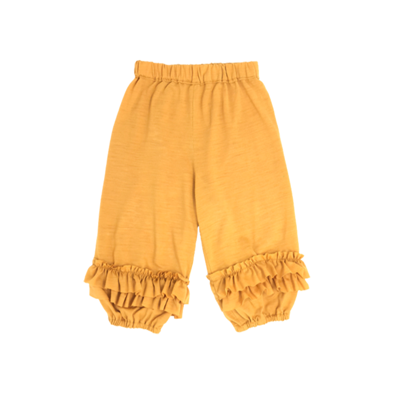 Baby Girls Mustard Ruffled Pants