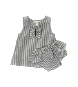 Girls' Striped dress with bloomers set