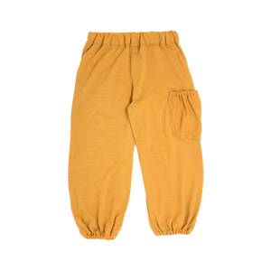Girls Mustard Pants With Side Pocket
