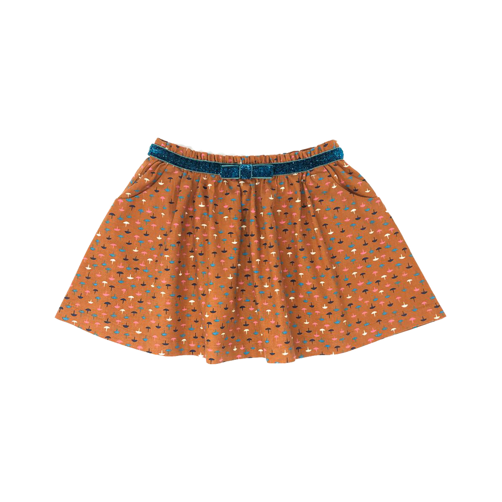Girls' Mustard Pocket Skirt