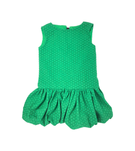 Girls Green Balloon Dress