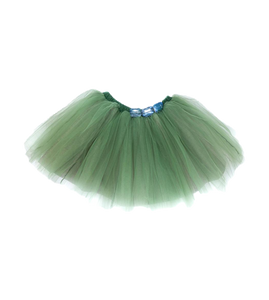 Girls' green tulle skirt