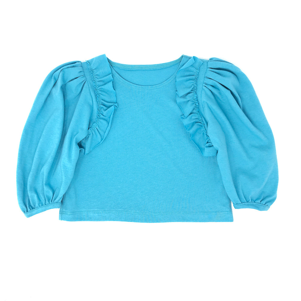 Girls Puff Sleeve Top