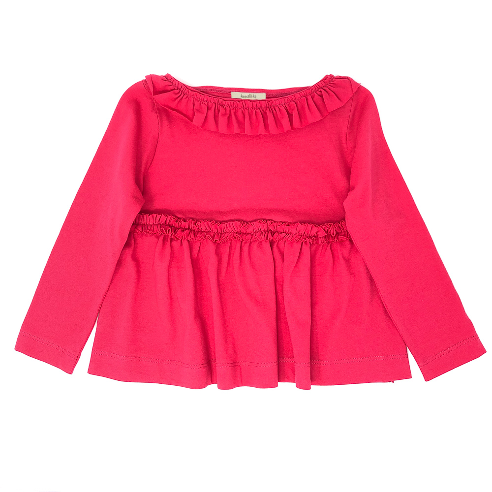 Girls' Ruffle-Trimmed Top-Wholesale