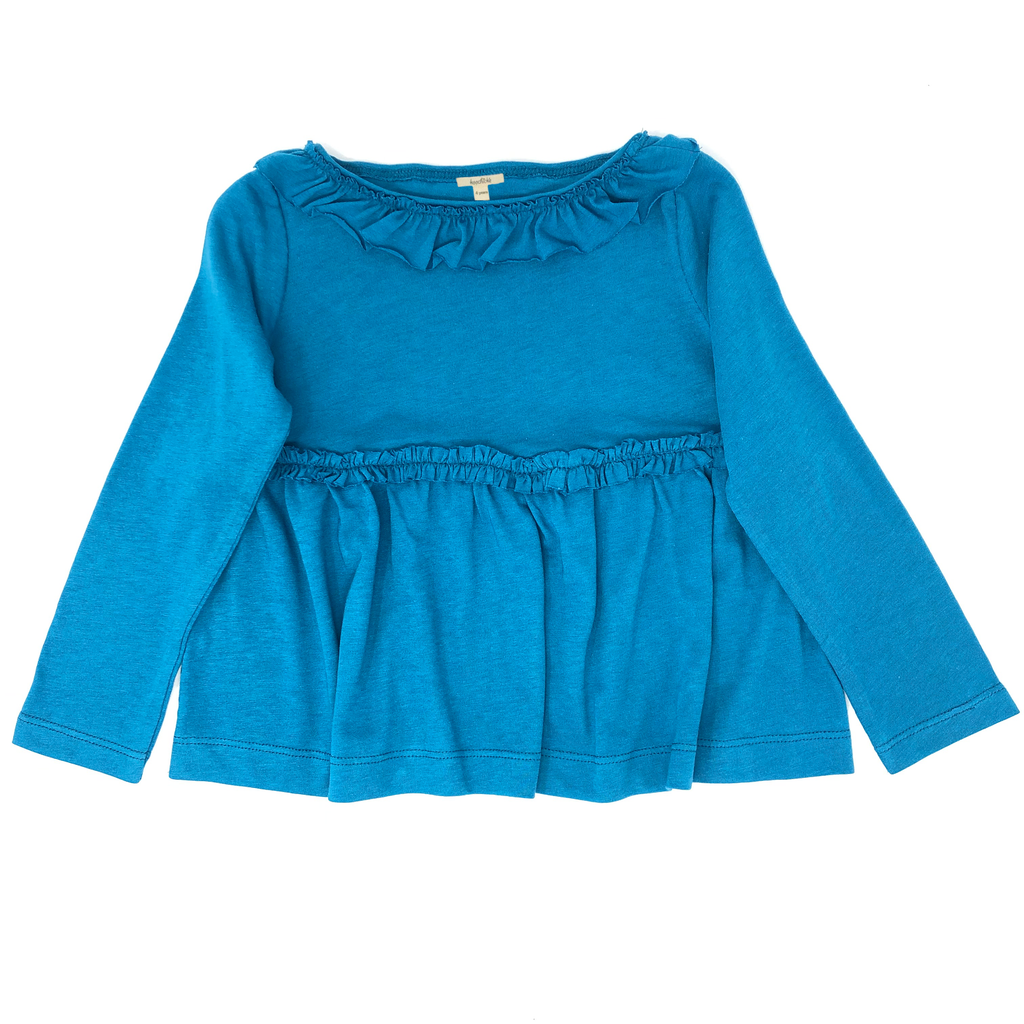 Ruffle-Trimmed Top-Wholesale