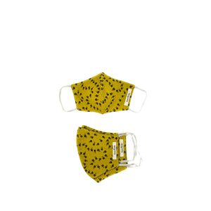 Mustard/Floral Masks- Family Package (3 Pcs)