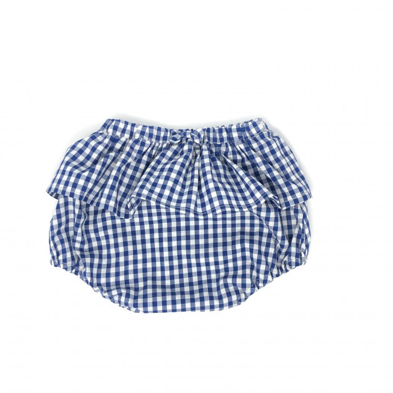 Kids Blue Gingham Bloomers-Wholesale