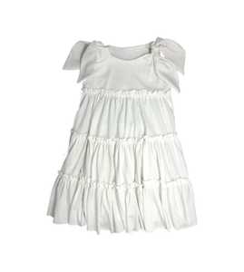 White Ruffled Dress