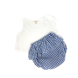 Girls White Top with Shoulder Bow