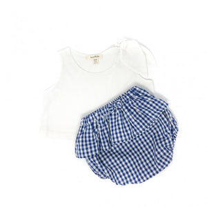 Kids Blue Gingham Bloomers