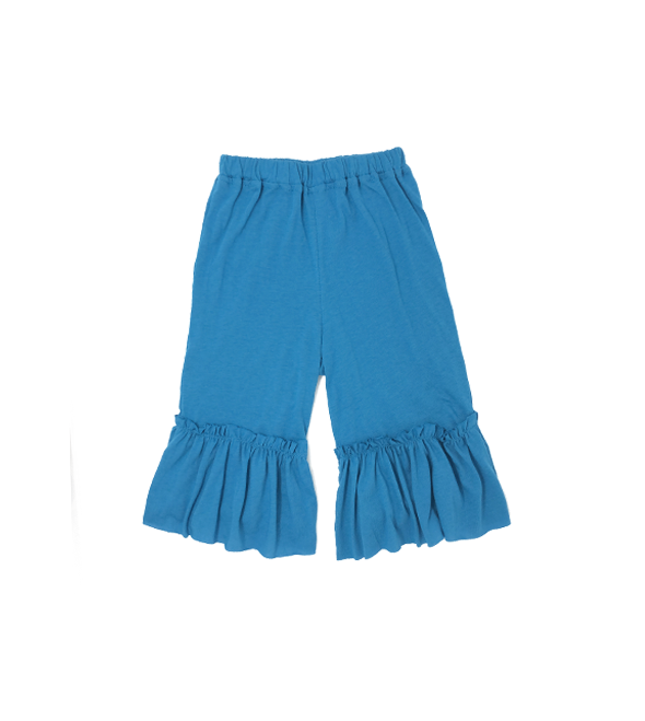 Girls Blue Ruffle Pants