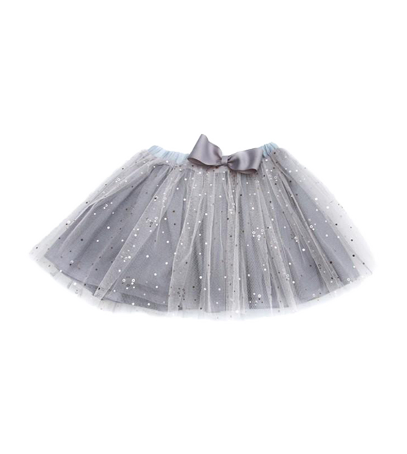 Girls' glittered tulle skirt