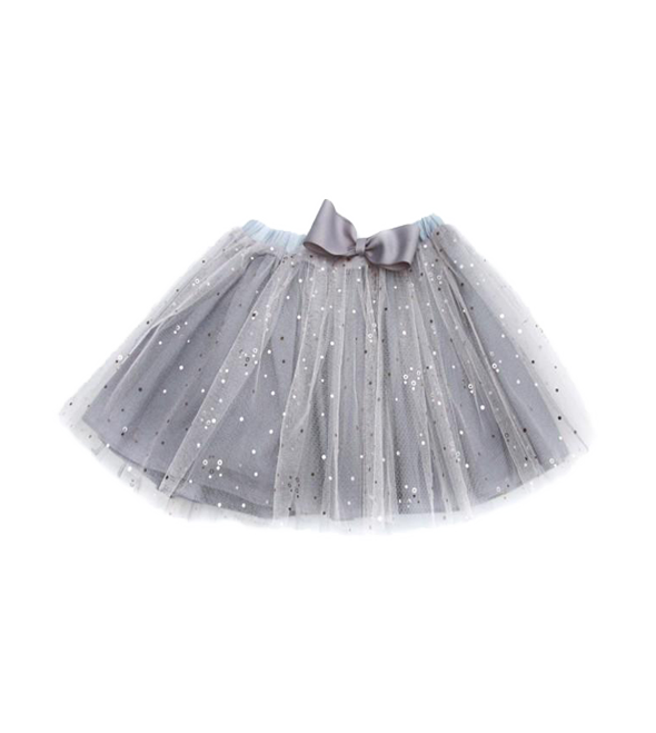 Girls' glittered tulle skirt-Wholesale