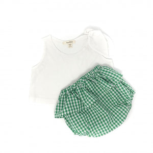 Kids Green Gingham Bloomers