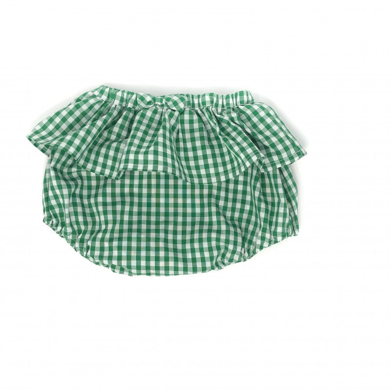 Kids Green Gingham Bloomers-Wholesale