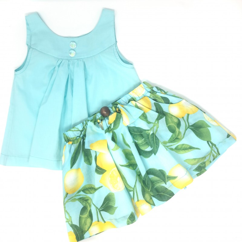 Girls' Lemon print skirt