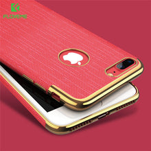 Load image into Gallery viewer, FLOVEME Luxury Plating Soft Cases For iPhone 7/7 plus Gold Black Thin Back Phone Case For Apple iPhone 8 7 Cover Coque Logo Hole - Case Smart
