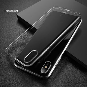 Baseus Ultra Thin TPU Case For iPhone X Dirt-resistant Case Transparent Soft Silicone High Transparency Case For iPhone X Cover - Case Smart