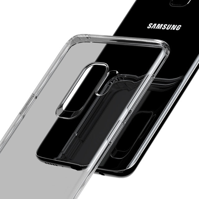 Baseus Silm Case For Samsung Galaxy S9 S9 Plus, Transparent TPU Silicone Capinhas For Galaxy S9 S9+ Cover Case Coque Phone Pouch - Case Smart