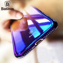 Load image into Gallery viewer, Baseus Phone Case For iPhone X 8 7 6 6s 5 5s se Ultra Slim Gradient Color Hard PC Case For iPhone 8 7 6 6s Plus Coque Back Cover - Case Smart