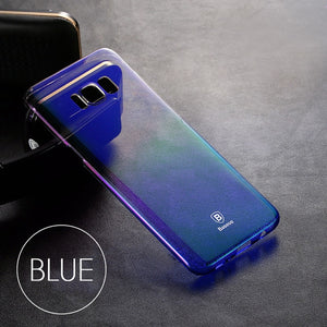 Baseus Luxury Plating Gradient Hard Plastic Case For Samsung S9 S9 Plus Ultra Thin PC Phone Cover For Samsung S8 S8 Plus Coque - Case Smart