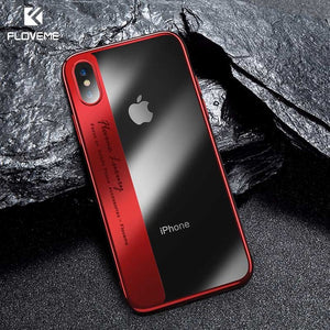 FLOVEME Luxury Phone Case For iPhone 8 7 Plus Transparent Plated Soft TPU Cases For iPhone X 10 6s 6 Plus 8 Silicone Cover Capa - Case Smart