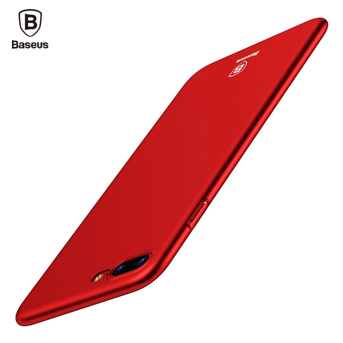 Baseus Luxury Phone Case For iPhone 8 7 6 6s s Ultra Thin Slim Cover For iPhone 8 7 6 6s Plus Capinhas PC Back Shell Coque Funda - Case Smart