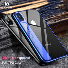 Load image into Gallery viewer, FLOVEME Luxury Phone Case For iPhone 8 7 Plus Transparent Plated Soft TPU Cases For iPhone X 10 6s 6 Plus 8 Silicone Cover Capa - Case Smart