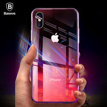Load image into Gallery viewer, Baseus Phone Case For iPhone X 10 Capinhas Gradient Color Ultra Thin Slim PC Hard Back Cover Case For iPhoneX Shell Coque Fundas - Case Smart